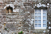 Details of an old house, Locronan, Finistere, Bretagne, Brittany, France