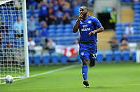CELE - Cardiff City's Junior Hoilett celebrates scoring his sides first goal <br /> <br /> Photographer Ashley Crowden/CameraSport<br /> <br /> The EFL Sky Bet Championship - Cardiff City v Queens Park Rangers - Saturday 26th August 2017 - Cardiff City Stadium - Cardiff<br /> <br /> World Copyright © 2017 CameraSport. All rights reserved. 43 Linden Ave. Countesthorpe. Leicester. England. LE8 5PG - Tel: +44 (0) 116 277 4147 - admin@camerasport.com - www.camerasport.com