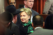 Senator Hillary Clinton arrives at Swearing-in of the Honorable David A. Patterson as 55th Governor of New York  at The New York State Capitol in the Assembly Chambers on March 17, 2008