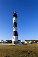 NC00717-00...NORTH CAROLINA - Bodie Island Lighthouse in Cape Hatteras National Seashore on the Outer Banks.