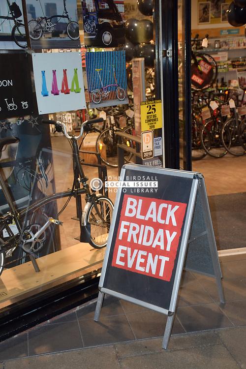 Black Friday, Norwich UK 29/11/19. Cycle Republic shop