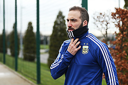 Argentina's Gonzalo Higuain walks out to train - Mandatory by-line: Matt McNulty/JMP - 21/03/2018 - FOOTBALL - Argentina - Training session ahead of international against Italy