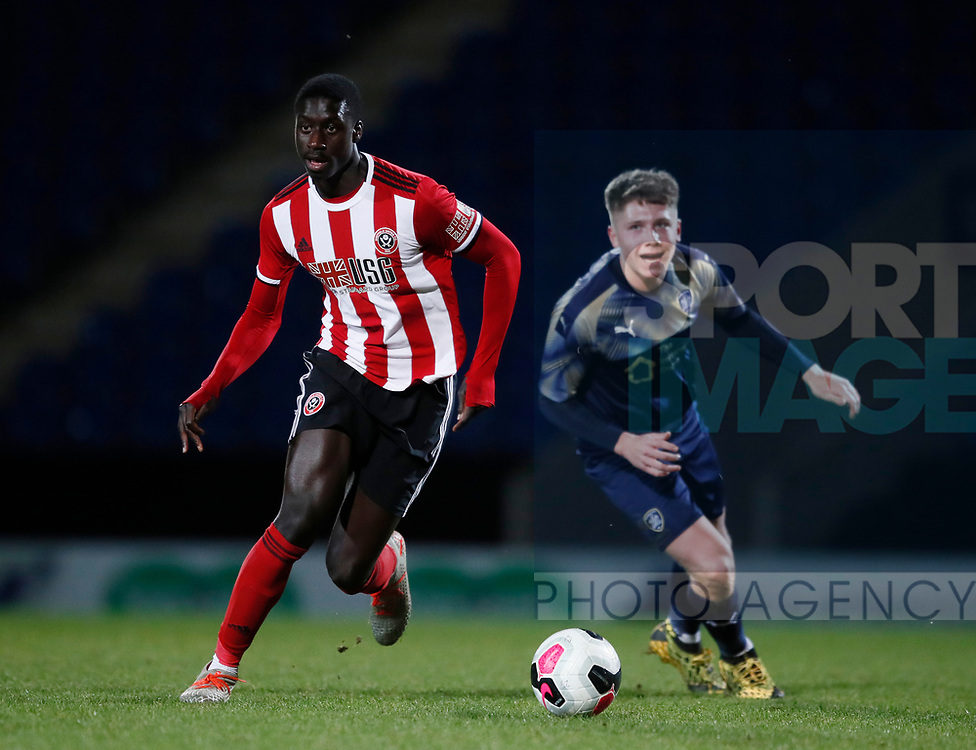 Nickseon Gomis of Sheffield Utd during the Professional Development League  match at the Proact Stadium, Chesterfield. Picture date: 3rd February 2020. Picture credit should read: Simon Bellis/Sportimage