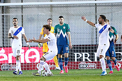 Kostas Tsimikas of Greece raects during football match between National teams of Greece and Slovenia in Final tournament of Group Stage of UEFA Nations League 2020, on November 18, 2020 in Georgios Kamaras Stadium, Athens, Greece. Photo by MATTHAIOS YORGOS / INTIME SPORTS / SPORTIDA