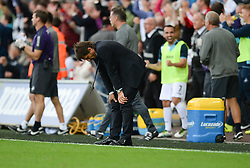 Chelsea Manager Antonio Conte looks dejected as swansea score there second goal to make it 2-1 - Mandatory byline: Alex James/JMP - 07966386802 - 11/09/2016 - FOOTBALL - Barclays premier league -swansea,Wales - Swansea v Chelsea  -