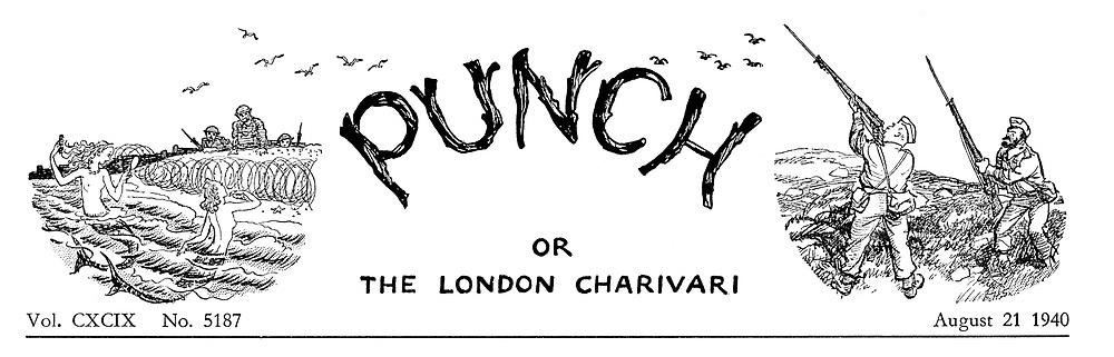 (Charivaria heading 21 August 1941)