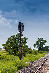 Railway photos - may include tracks, signals, ties, spikes, and other railroad related items.