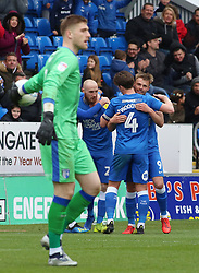Matt Godden of Peterborough United celebrates scoring his goal - Mandatory by-line: Joe Dent/JMP - 06/04/2019 - FOOTBALL - ABAX Stadium - Peterborough, England - Peterborough United v Gillingham - Sky Bet League One
