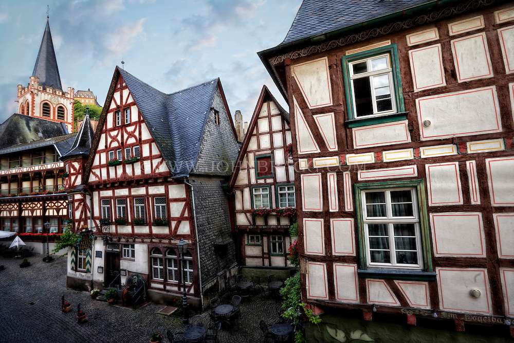 The distinct and beautiful Tudor style architecture of Bacharach, Germany.