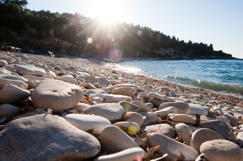 Pebbles of Manadendri beach, Paxoi Manadendri beach, Paxoi, Greece