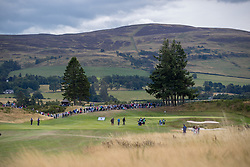 Great Britain's Catriona Matthew makes her way down the 1st hole during day ten of the 2018 European Championships at Gleneagles PGA Centenary Course.