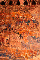 Wat Si Saket Mural - built in 1818 on the orders of King Anouvong;  Wat Si Saket is said to be the oldest temple still standing in Vientiane. It was built in the Siamese style of Buddhist architecture, with a surrounding terrace and an ornate five tiered roof, rather than in the Lao style, keeping it safe from the armies of Siam which attacked Vientiane in 1827. Although the temple was spared as its design was Bangkok style, the French restored the temple in 1924 and again in 1930. Wat Si Saket features a cloister wall with more than 2000 ceramic and silver Buddha images.
