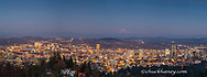 Dusk Panoramic of Portland, Oregon, USA