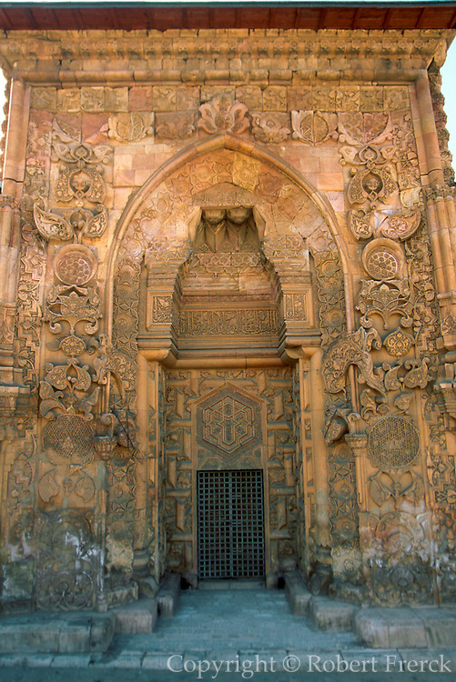 TURKEY, CENTRAL ANATOLIA DIVRIGI; Ulu Cami and Sifahane; built in 1228 AD by Mengucekids; flamboyant decorated doorways in Sel�uk style