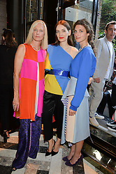 Left to right, JOELY RICHARDSON, ROKSANDA ILINCIC and DAISY BEVAN at the opening of Roksanda - the new Mayfair Store for designer Roksanda Ilincic at 9 Mount Street, London on 10th June 2014.