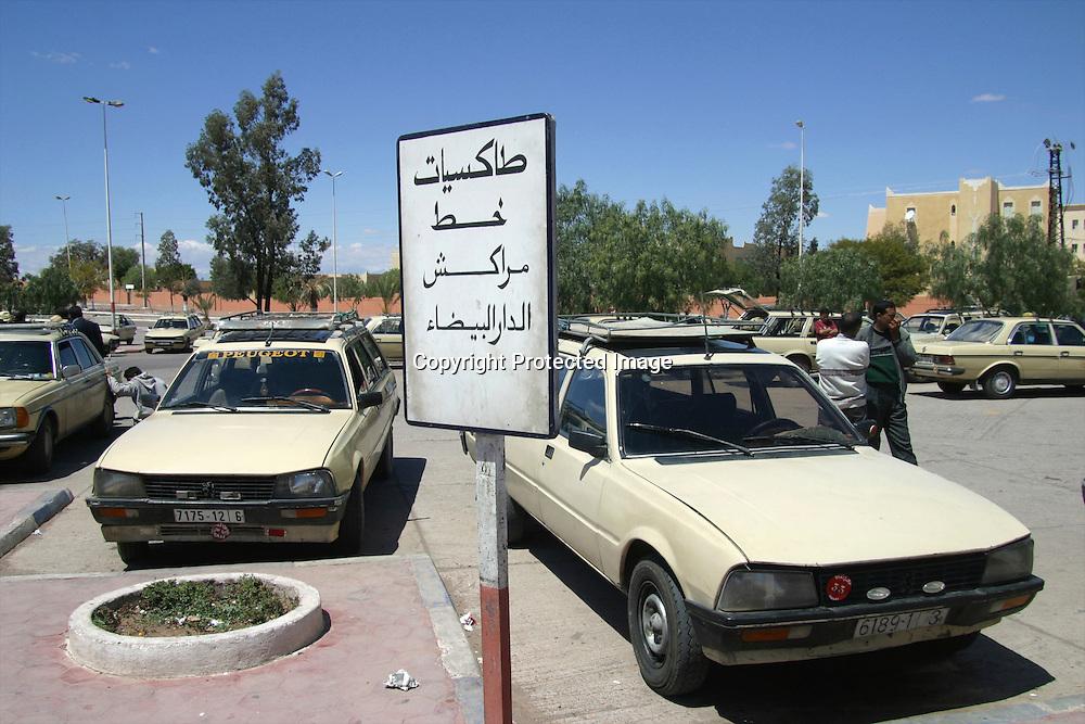 taxi's in marakesh, morocco