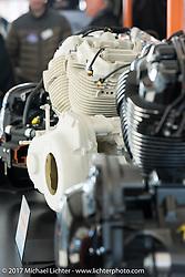 Milwaukee-eight engine model at the Harley-Davidson display at the Daytona Speedway during Daytona Bike Week. Daytona Beach, FL. USA. Wednesday March 15, 2017. Photography ©2017 Michael Lichter.