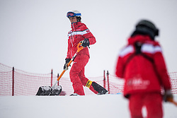 February 9, 2019 - …Re, SWEDEN - 190209 Maintenance of the slopes ahead of the downhill during the FIS Alpine World Ski Championships on February 9, 2019 in Ã…re  (Credit Image: © Daniel Stiller/Bildbyran via ZUMA Press)