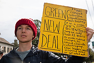 """Chase O'Halloran, a Loyola college student, worries about the lack of urgency of New Orleans residents toward climate change. """"Regardless of what we are working for whether it be a career or a degree, or high school, none of that exists without climate,"""" he said. He wonders what it is going to take for people to put two and two together and realize the threat of climate change is universal."""
