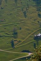 Golzern, Switzerland - looking down from high above the Maderanertal.