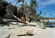 Lynne on Winifreds Rest Home Beach 1973