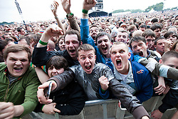 © licensed to London News Pictures . 30/06/2012 . Manchester , UK . A crowd of 70,000 turned out to see the comeback of The Stone Roses in Heaton Park . Photo credit : Joel Goodman/LNP