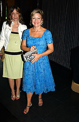 Right, MRS KAY SAATCHI at Tatler Magazine's Summer Party held at the Baglioni Hotel, 60 Hyde Park Gate, London SW7 on 1st July 2004.