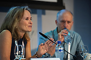 22nd International AIDS Conference (AIDS 2018) Amsterdam, Netherlands.  <br /> Photo shows: HIV Cure, Research with the Community Workshop. Left to Right: Sharon Lewin, The Doherty Institute, University of Melbourne, Australia; Steve Deeks, UCSF, United States.<br /> Photo © Steve Forrest/Workers' Photos