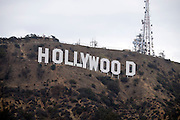 © Licensed to London News Pictures. 09/08/2015. Los Angeles, USA. A view of the Hollywood sign in Los Angeles. Photo credit : Stephen Simpson/LNP