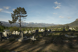Oct. 1, 2012 - Pniel, Western Cape, South Africa - The small cementery in the town of Pniel leads to wine country Stellenbosch and Franschhoek in the Western Cape.  This part of South Africa is well known for it's vineyards and fine wines.. . Photos taken in South Africa by Anacleto Rapping ©2012 (Credit Image: © Anacleto Rapping/ZUMA Wire/ZUMAPRESS.com)