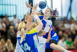 Maja Zrnec of Slovenia during handball game between Women National Teams of Slovenia and Switzerland in 2014 Women's European Championship Qualification, on March 30, 2014 in Arena Kodeljevo, Ljubljana, Slovenia. Photo by Vid Ponikvar / Sportida