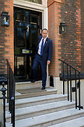 On the day that the Conservative Party elects Boris Johnson its leader and the countrys Prime Minister, Health Secretary Matt Hancock leaves the property in Great College Street that Johnsons campaign team have been using courtesy of Sky executive Andrew Griffith, on 23rd July 2019, in Westminster, London, England.
