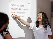 A student in the Medical Academy at Pine Bush High School answers a question during a visit by Thelma Melendez, assistant secretary for elementary and secondary education at the U.S. Department of Education, on Monday, July 11, 2011.