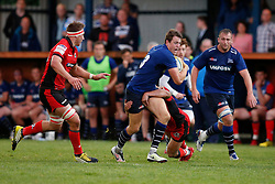 Sam James of Sale Sharks attacks - Mandatory by-line: Matt McNulty/JMP - 19 August 2016 - RUGBY - Heywood Road Stadium - Manchester, England - Sale Sharks v Edinburgh Rugby - Pre-Season Friendly