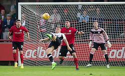 Inverness Caledonian Thistle's John Baird shots. Half time : Brechin City 0 v 2 Inverness Caledonian Thistle, Scottish Championship game played 26/8/2017 at Brechin City's home ground Glebe Park.