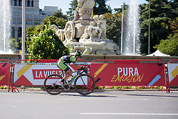 Going into the final lap Malgorzata Jasinska still leads solo at Madrid Challenge by la Vuelta 2017 - a 87 km road race on September 10, 2017, in Madrid, Spain. (Photo by Sean Robinson/Velofocus.com)