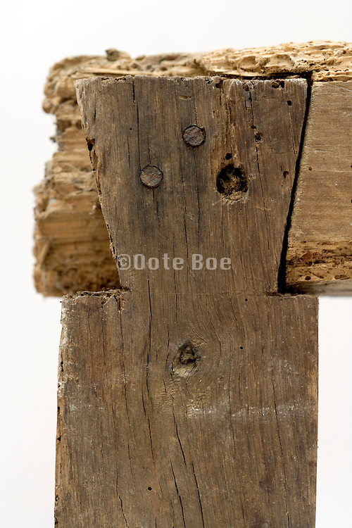 close up old classical joint which is deterioting