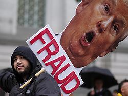 January 20, 2017 - Los Angeles, California, U.S - Hundreds of protesters march along the street during a rally against the inauguration of President Donald Trump Friday. (Credit Image: © Ringo Chiu via ZUMA Wire)