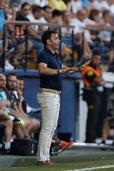 September 20, 2018 - Vila-Real, Castellon, Spain - Javier Calleja head coach of Villarreal CF reacts during the UEFA Europa League group G match between Villarreal CF and Rangers at Estadio de la Ceramica on September 20, 2018 in Vila-real, Spain  (Credit Image: © David Aliaga/NurPhoto/ZUMA Press)