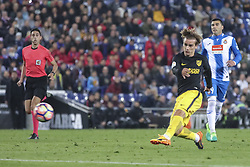 April 22, 2017 - Barcelona, Spain - Antoine Griezmann during the match between RCD Espanyol vs Atletico Madrid, for the round 33 of the Liga Santander, played at RCD Espanyol Stadium on 22th April 2017 in Barcelona, Spain. (Credit Image: © Anna Trigueros/NurPhoto via ZUMA Press)