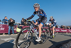 Lauren Kitchen on the Vamberg - Drentse 8, a 140km road race starting and finishing in Dwingeloo, on March 13, 2016 in Drenthe, Netherlands.