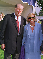 MR & MRS KERRY PACKER he is the Australian multi millionaire media tycoon, at a polo match in Berkshire on 13th June 1999.MTD 200
