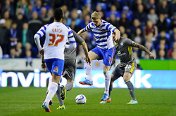 Pavel Pogrebnyak (RUS) of Reading in action - Photo mandatory by-line: Rogan Thomson/JMP - 07966 386802 - 14/04/2014 - SPORT - FOOTBALL - Madejski Stadium, Reading - Reading v Leicester City - Sky Bet Football League Championship.