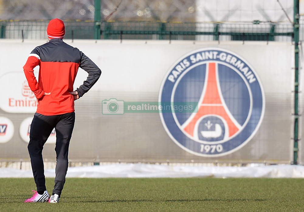 UK new Paris Saint-Germain player David Beckham during his first PSG training session at Camp des Loges in Saint-Germain-en-Laye, France on February 13, 2013. Photo by Nikola Kis Derdei/ABACAPRESS.COM