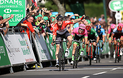 Team Lotto-Soudal's Andre Greipel celebrates winning stage four of the Ovo Energy Tour of Britain 2018 from Nuneaton to Royal Lemington Spa.