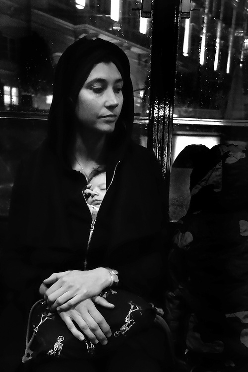 Burim Myftiu American Visual Artist, Contemporary Photographer and Art Curator<br /> Appearance of Madonna in Tramway, Milano, Italy