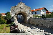 Donja Vrata, the Lower Gate and section of wall. Nin, Croatia