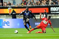 FOOTBALL - FRENCH CHAMPIONSHIP 2011/2012 - LE MANS FC v SC BASTIA   - 4/05/2015 - PHOTO PASCAL ALLEE / DPPI - MAKA MARY (BASTIAS) / PATRICK CLAUDE EKEG EKENG (LE MANS)