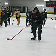 Bill Verneris. Hamden High school boys' hockey head coachduring a training session at Hamden High School,  Hamden, Connecticut, USA. 20th February 2014. Photo Tim Clayton