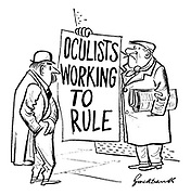 (Vendor holds up headline: Oculists Working to Rule)